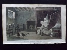 Rowlandson Doctor Syntax 1820 Hand Col Print. Doctor Syntax Loses his Wig